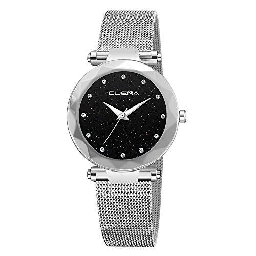 Neuer Trend Klassisch Damen Uhren Analog Quarz Armbanduhr, Frauen Minimalistisch Modisch mit Edelstahl Armband Uhren Damenuhr Elegant Ultradünne LEEDY