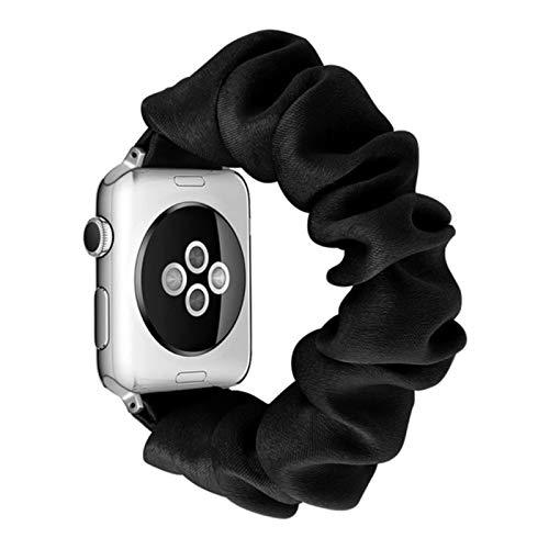 Band Scrunchie Elastic Straps Watch band para Apple Watch Band Series 6 SE 5 4 3 21 38mm 40mm 42mm 44mm para cinturón de pulsera para mujer