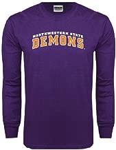 CollegeFanGear Northwestern State Purple Long Sleeve T Shirt 'Arched Northwestern State Demons'