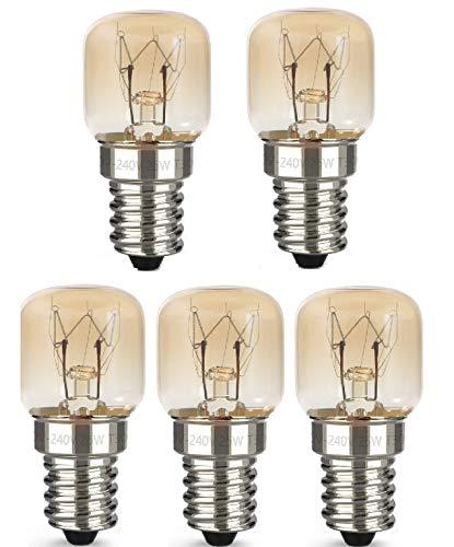 AcornSolution 25W T22 E14 230-240V SES backofenlampe Dimmbare klare GLS-Glühbirne für Kühl- und Gefrierschränke (5er-Pack)