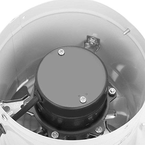Omabeta 190mm 40W 220V Ventilador de Escape montado en la Pared Bajo Ruido Hogar Baño Cocina Garaje Ventilación de Aire para almacén Restaurante Garaje(Beige)