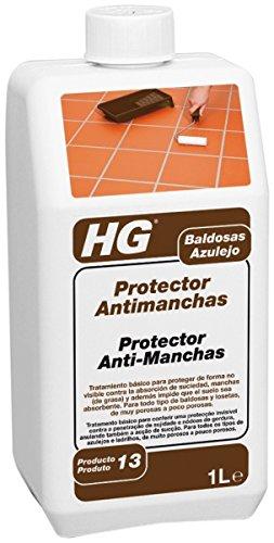HG Protector Antimanchas 1L- Evita la suciedad y la grasa - pretratamiento básico especial para baldosas o losetas (nuevas) no esmaltadas