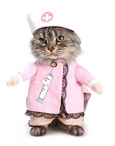 Kostuum - verpleegster - dokter - kat - m