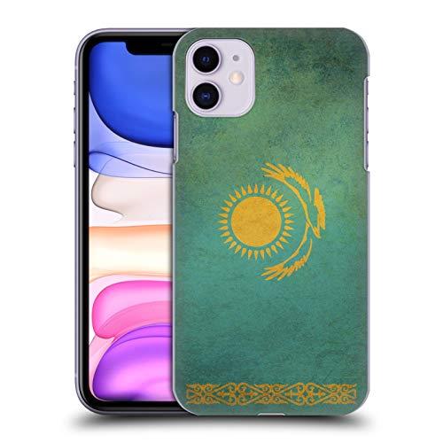 Head Case Designs Kasachstan Kasachisch Vintage Fahnen 2 Harte Rueckseiten Handyhülle Hülle Huelle kompatibel mit Apple iPhone 11