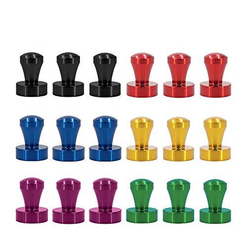 Ant Mag 18 Stück Neodym Magnete Push Pins 12 x 16mm 6 Farben Magnete für Magnettafel, Whiteboard,Kühlschrank Pinnwand DIY mit
