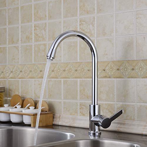 AuraLum Elegant Mischbatterie Küchenarmatur 360° drehbar Schwenkbarer Wasserhahn Armatur für Küche Waschbecken - 7