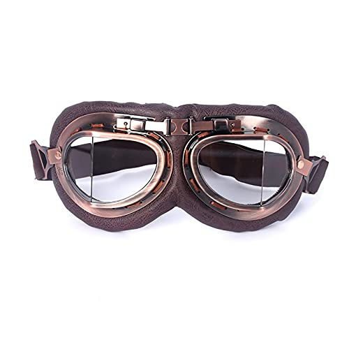HZLGFX Gafas para Montar En Moto, Gafas De Aviador Retro, Gafas De Sol Steampunk para Deportes Al Aire Libre, Gafas De Sol para Bicicleta MTB, para Béisbol, Correr, Pescar, Golf, Montar,A1