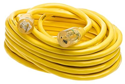 Yellow Jacket Heavy-Duty Contractor Extension Cord with T-Blade 5-20 Lighted Ends