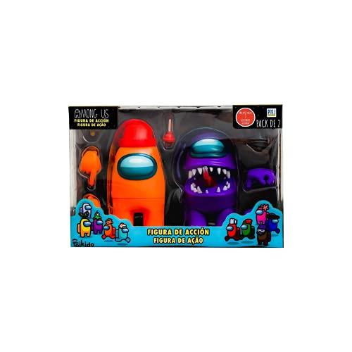 Bizak- Among Us Figura de Acción Pack de 2 en Caja Surtido (64116015), Multicolor