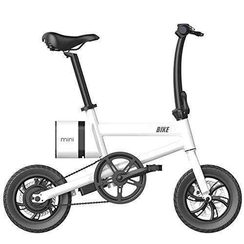 CLOUDH 12 Pulgadas Bicicleta Plegable EléCtrica, 250w EléCtrica De CercaníAs Bicicletas, E-Bici con 7.8ah ExtraíBle De Iones De Litio con Equipado con Interfaz USB, Frenos De Doble Disco