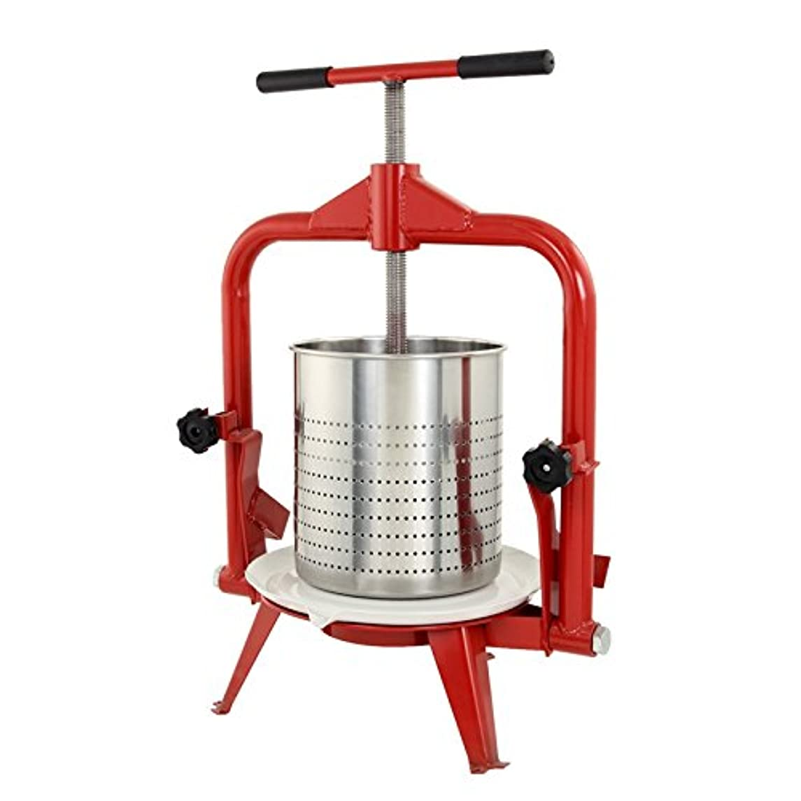 TSM Products Stainless Steel Harvest Fruit and Wine Press, 14-Liter