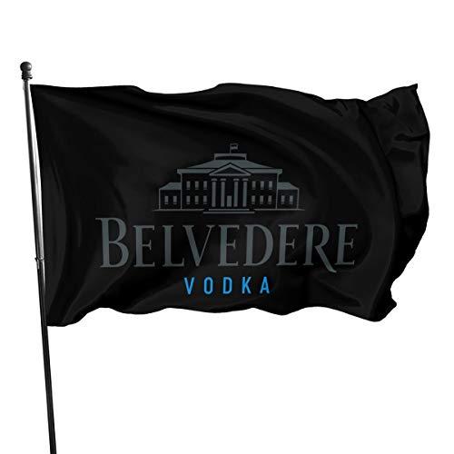 N / A Belvedere Vodka Fahnen Flagge Flag Banner Polyester Material Gartenbalkon Gartendekoration Im Freien 90x150cm