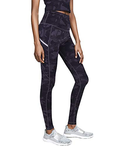 GRAT.UNIC Leggins Mujer de Yoga Leggings Fitness Mallas Deportivas de Mujer con Bolsillos Laterales Polainas de Yoga Fitness Camuflaje Leggins (Negro-402, S)