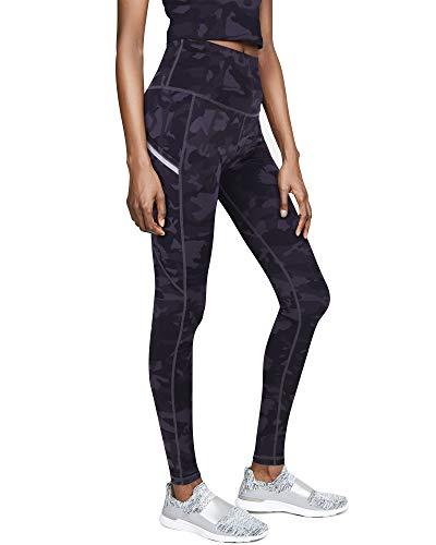 GRAT.UNIC Leggins Mujer de Yoga Leggings Fitness Mallas Deportivas de Mujer con Bolsillos Laterales Polainas de Yoga Fitness Camuflaje Leggins (Negro-402, L)