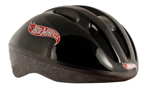Hot Wheels Kinder Helm Big Logo, schwarz, 50-56 cm (M), 980305/3