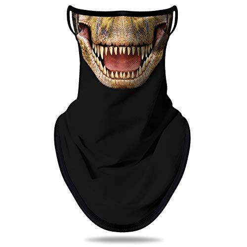 NTBOKW Bandana Face Mask with Ear Loops Neck Gaiter Mask for Men Women (Dinosaur G0110)