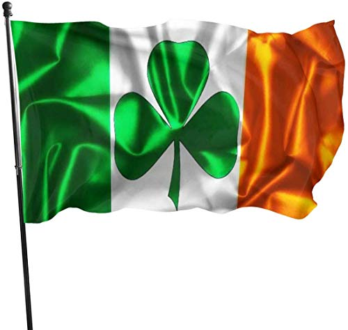Viplili Flagge/Fahne, Irish Flag Facebook Fahnen Flaggen Durable Fade Resistant Decorative Flags Premium Flag with Grommets Polyester Deluxe Outdoor Banner for All Seasons & Holidays- 3X5 Ft