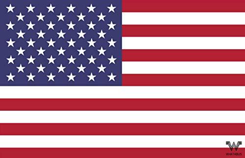 Adhesivo de bandera de Estados Unidos de Whatabus, 8,5 x 5,5 cm