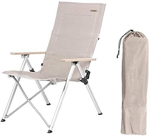 YYZZ Chaise de Camping Pliante Portable Porte-gobelet Poche et accoudoir Dur Prend en Charge 308 LB Kaki régulier