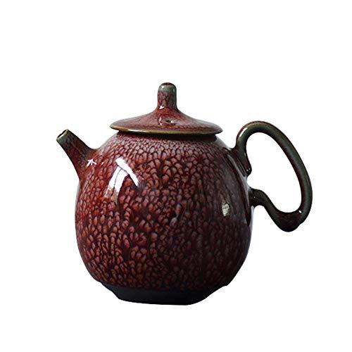 Tetera,Tetera de hierro fundido,Juego de tetera de cerámica hecha a mano olla de té chino kung fu 250ml decoración del hogar presente