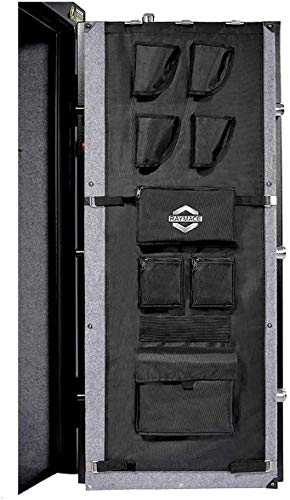 RAYMACE Gun Safe Door Panel Organizer 16.5W47H, Adjustable Width to 22 inch, Pistols and Documents Storage Solution