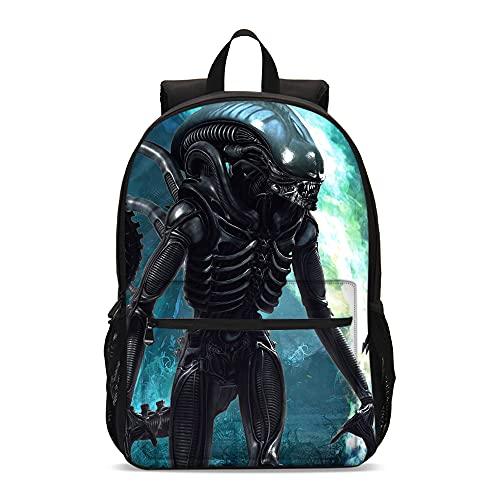 KKASD Mochila impresa en 3D Alien & Predator Mochila para niños Mochila para niños Mochila informal para hombres y mujeres de la escuela (45x30x15cm)