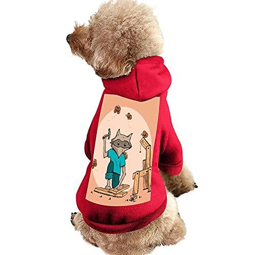 Perro Gato Sudadera con Capucha Mascota Ropa de Invierno para Mascotas Chaleco Disfraces Abrigo Ropa de Algodón para Perros Pequeños Medianos (XS, Zorro Rojo)