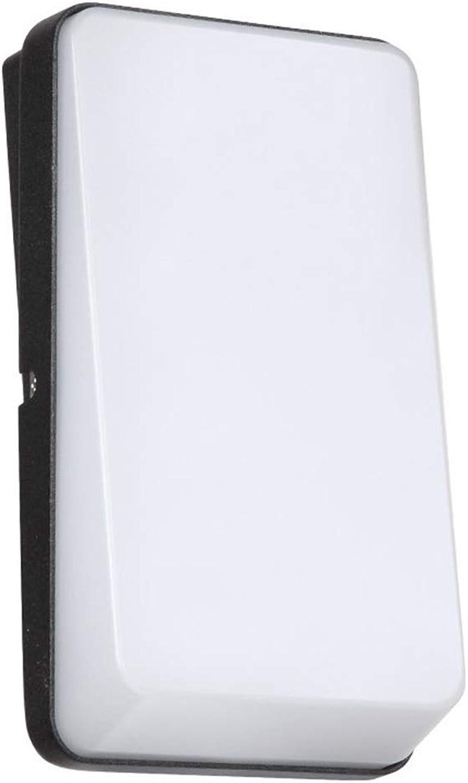 Lixin LED-Wandleuchte Wasserdichter Staub Helle Lampe Für Gartenzaun Tür Hof Oder Eingang Outdoor Kunststoff Pulver Anti-aging Kein Lackfallen (Farbe   Sand schwarz-23  13.5  4.8cm)