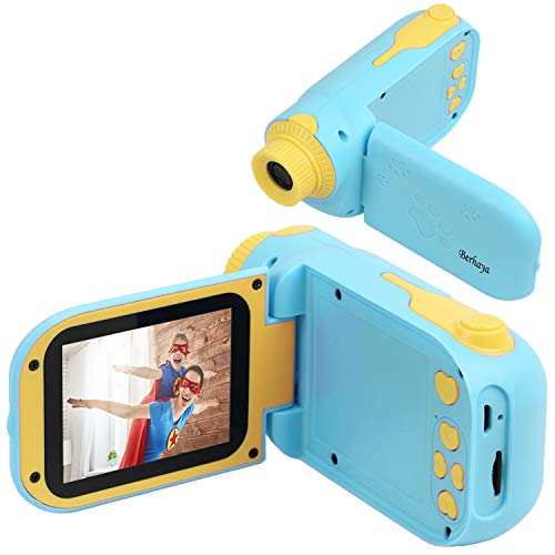 berhaya Kids Camera, Digital Child Camera 1080P HD 32G Memory Card 2.4inch HD Screen, Rechargeable 12MP Kids Toy Camera Birthday Gift for Children Boys& Girls 2-7 Years Old