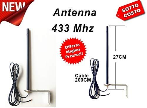 433 MHz antenne voor receiver en volautomatisch van houder en afgeschermde kabel.