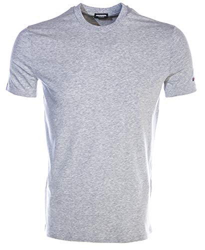 DSQUARED2 Barcode Arm Logo T Shirt in Grey