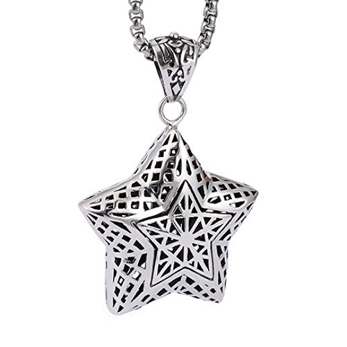 Circlefly S925 Silber Openwork Star Anhänger fünfzackiger Stern Thai Silber Handgemachter Schmuck