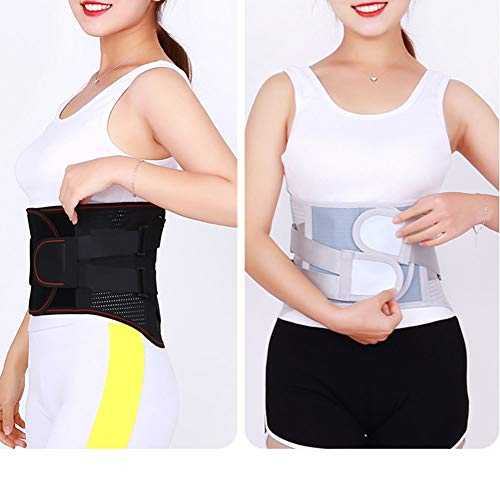 LSRRYD Adjustable Neoprene Back Support Belt Double Pull Lumbar Support Lower Back Belt For Pain Relief And Injury Prevention Sciatica (Color : Black)