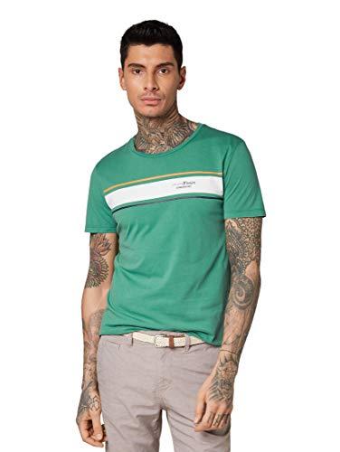 TOM TAILOR Denim Camiseta para hombre. Light Simply Green S