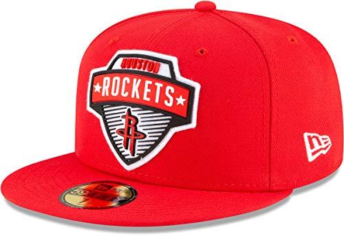 New Era 5950 NBA 2020 - Cappellino aderente Rockets di Houston. 7.375