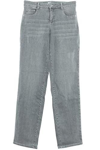 MAC Gracia Jeans Hose Damen Stretchjeans Denim Weites Bein Feminine Fit, Farbe:grau, Damengrößen:40, Hosenlängen:L34