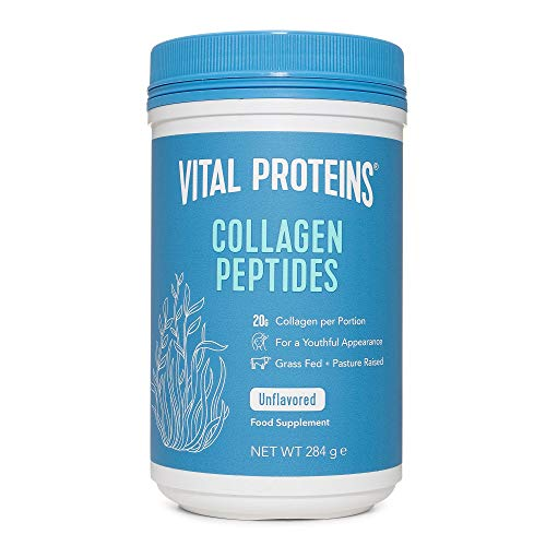 Vital Proteins Collagen Peptides Powder Supplement (Type I, III) - Hydrolyzed Collagen - Non-GMO - Dairy and Gluten Free - 20g per Serving - Unflavored 284g Canister