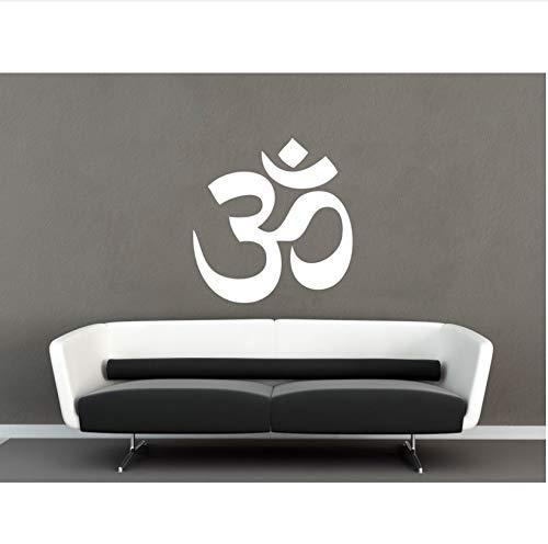 Yoga Wand Vinilos Paredes Om Wandtattoo Om Aufkleber Wandtattoo Zitat Wandtattoo Wohnkultur 56X56Cm