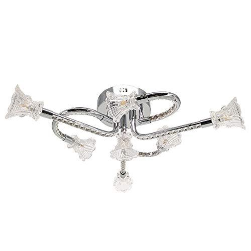KFDQ Kristall-Blütenblatt-Deckenleuchte, LED-Schlafzimmer-Leuchter, Einfache Kreative Individuelle...
