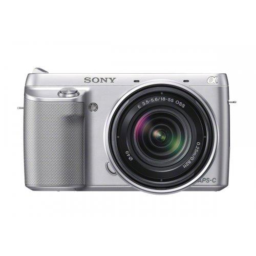 Sony NEX-F3KS Systemkamera (16 Megapixel, 7,5 cm (3 Zoll) Display, 3D Schwenkpanorama, Live View, Full-HD) Inkl. SEL 18-55mm Zoom-Objektiv silber