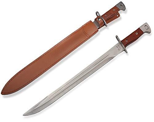 KOSxBO® AK CCCP 47 XXL Bajonett Messer Länge 51 cm mit Etui für Jäger - Angler - Camper - AK Russland Schwert Fans - Militärmesser - Originalgetreu 1:1