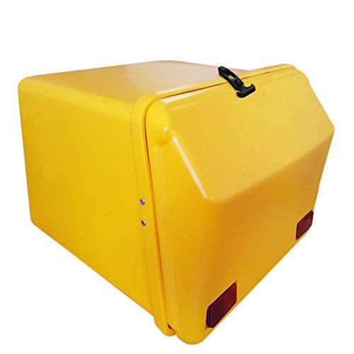 Portaequipajes Moto baúl Reparto Amarillo/Amarillo con Reflectantes homologados