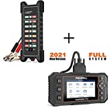 FOXWELL NT624 Elite Obd2 Scanner Automotive All Systems Diagnostic Scan Tools Vehicle Code Reader with 12V 24V Car Battery Tester