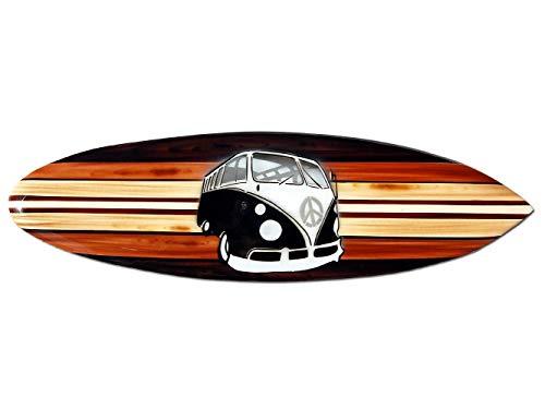 Seestern Sportswear Tabla de surf decorativa de madera, 50,80 o 100 cm, diseño de aerógrafo, surf, surf, surf, surf, surf, surf, surf, surf, surf, 100 cm