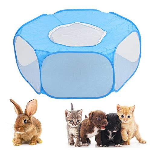 Casa para parques para mascotas, 33 x 37 x 14,9 pulgadas Jaula para parques para mascotas Tienda de campaña para mascotas Instalación rápida Tienda de juegos para animales pequeños para el(sky blue)