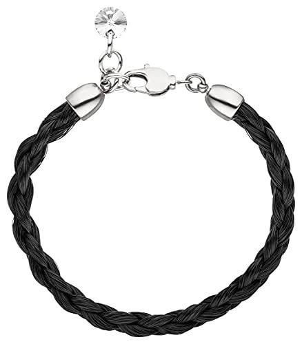Schwarzes Pferdehaar Armband // Länge 17.5 cm Durchmesser 0,5cm