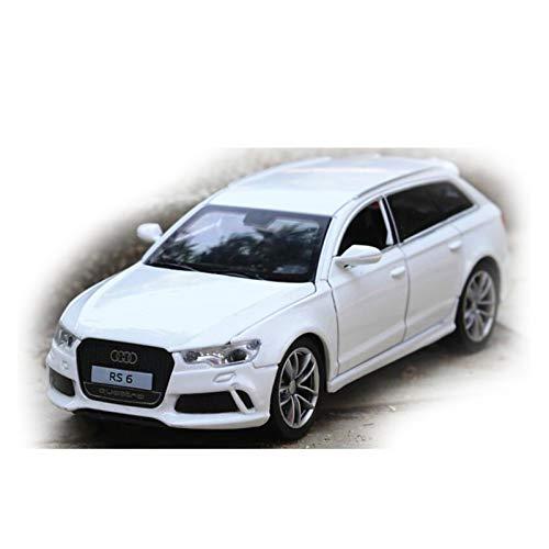 Escala 1/32 para Audi RS6 Simulación De Aleación De Zinc Modelo De Coche De Fundición A Presión Sonido Y Luz Coche De Juguete para Niños Regalo De Cumpleaños (Color : White)