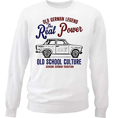 Teesandengines Men\'s Trabant 601 2 White Sweatshirt Size Medium