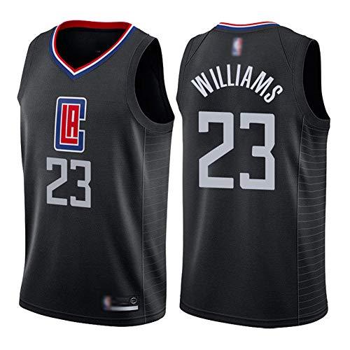 HBCC Camiseta # 23 Louis Williams LA Clippers,Camiseta sin Mangas de Baloncesto para niños,versión de Bordado Fino,Camiseta,Uniforme,Ropa Deportiva,Negro-A_L_Equipo de Deporte