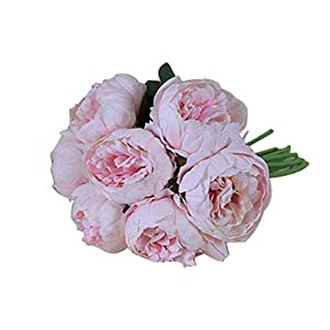 Artificial Flowers Beautiful Peony Artificial Flower Fake Flower Hibiscus Wedding Hand Holding Decorative Flower Home Accessories Fake Flowers